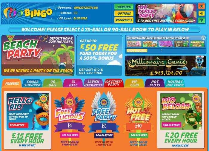 New cassava bingo sites